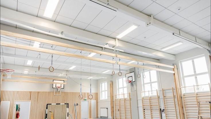 parafon, almby school gymnasium interior